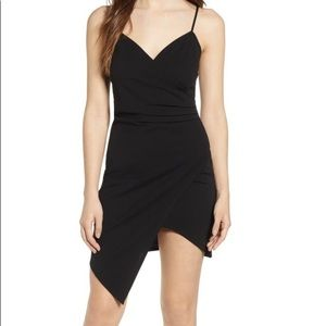 Black wrap body con dress 😎